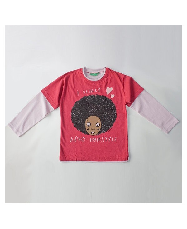 "Camiseta ""I really love afro hairstyle""."