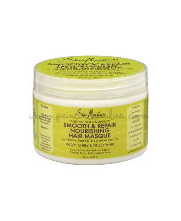 Shea Moisture - Tahitian noni & monoi smooth & repair nourishing hair masque - 340 gr.