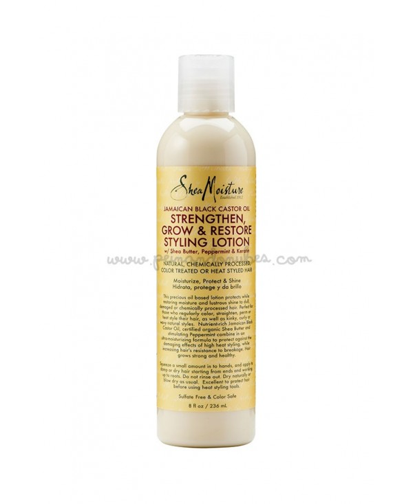 Shea Moisture - Jamaican Black Castor Oil Strengthen, Grow & Restore Styling Lotion - 236 ml.